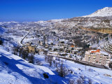 Winter Snows Blanket Village of Mairouba, Lebanon