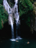 Swimmers at Salto Del Caburni Waterfall, Sierra Del Escambray, Topes De Collantes, Cuba