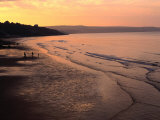 Sunset Over Beach at Low-Tide Whitby, England