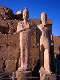 Two Collosi Statues at 8th Pylon at Karnak Temple in Ancient Thebes, Luxor, Egypt