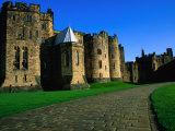 Exterior of Alnwick Castle, Alnwick, United Kingdom
