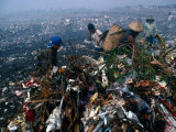 Families Collecting Rubbish on Valenzuala Dump, Quezon City, Rizal, Philippines