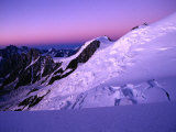 Twilight at Taconaz Neve, Chamonix Valley, Rhone-Alpes, France