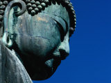 Detail of Daibutsu Statue ('Big Buddha'), Built in 1252, Kamakura, Kanto, Japan