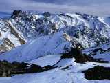 Snowfields of Oukaimeden in the High Atlas, Oukaimeden, Marrakesh, Morocco