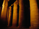 Columns in Temple of Amon-Ra, Karnak, Luxor, Egypt