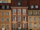 Facade of Buildings in Stare Mistro, Old Town Square, Warsaw, Mazowieckie, Poland