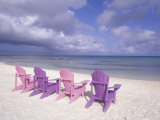 Beach Chairs and Ocean, U.S. Virgin Islands