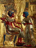 Buy Gold Throne Depicting Tutankhamun and Wife, Egypt at AllPosters.com