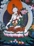 White Tara from Monastery Wall, Lhasa, Tibet Photographic Print