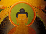 Buddha on a Thanka Painting, Tibet Photographic Print