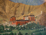 Tashilumpo Wall Painting, Tibet Photographic Print