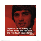 George Best: Money Art Print
