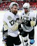 Petr Sykora & Sidney Crosby in Game 5 of the 2008 NHL Stanley Cup Finals; Celebration #19