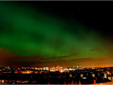 Northern Lights Hanging Over Glasgows West End