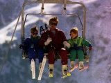 Princess Diana with Her Sons Prince William and Prince Harry on a Chair Lift
