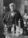 Buy Thomas Alva Edison American Inventor on His 77th Birthday in His West Orange Laboratory at AllPosters.com