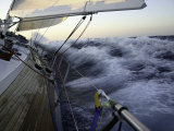 Sailboat in Rough Water, Ticonderoga Race