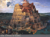 The Tower of Babel, c.1563 Art Print
