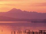 Mt. Baker and Puget Sound at Dawn, Anacortes, Washington, USA