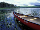 Canoeing on Lake Tarleton, White Mountain National Forest, New Hampshire, USA