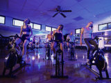 Group of Young Women Exercising in a Gym