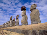 15 Moais at Ahu Tongariki, Easter Island, Chile