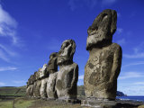 Buy Moai Ahu Tongariki, Easter Island, Chile at AllPosters.com