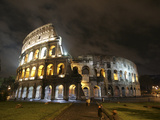 Buy The Ancient Colosseum is Lit up for the Occasion of the Day for the Abolition of the Death Penalty at AllPosters.com
