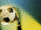 Goalie Holding a Soccer Ball