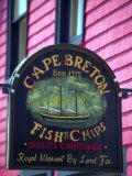 Fish and Chips Sign, Cape Breton, Sydney, Nova Scotia, Canada