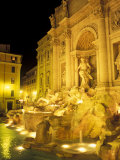 Trevi Fountain at Night, Rome, Italy