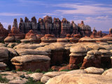 Chesler Park Trail in Needles Region, Canyonlands National Park, USA