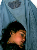 Afghan Mother Nagis Embraces Her Daughter