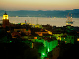 Evening Over Town and Golf St. Tropez, St. Tropez, France Photographic Print