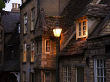 A Streetlamp Illuminating Several Stone Buildings, Stamford, United Kingdom