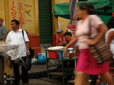 People on Street in City Centre, San Salvador, El Salvador