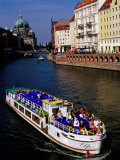 Cruise on Spree River with Berlin Cathedral (Berliner Dom) in Background, Berlin, Germany