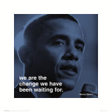 Barack Obama: Change Art Print
