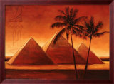 Sunset on Pyramids I