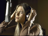 Actress Peggy Lipton in a Recording Studio