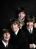 Members of Singing Group the Beatles: John Lennon, Paul McCartney, George Harrison and Ringo Starr Premium Photographic Print