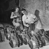 Women workers Betty Wainwright and Opal Burchette, Prep for Invasion of Nazi in Europe During WWII