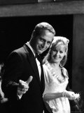 Actors Paul Newman and Joanne Woodward Premium Photographic Print
