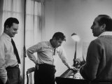 Conductor Leonard Bernstein, Jerome Robbins and Stephen Sondheim Discussing
