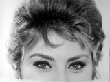 Close Up of the Eyes of Actress Sophia Loren Premium Photographic Print