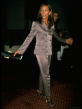 Actress and Singer Vanessa L. Williams Wearing Shiny Mauve Pantsuit