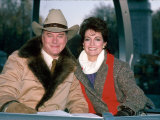 Actors Larry Hagman and Linda Gray