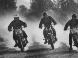Actors Steve McQueen and Bud Ekins in 500 Mile Cross Country Race Across the Mojave Desert