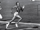 US Runner Wilma Rudolph at Olympics Premium Photographic Print